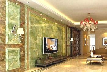 玉石石材电视背景墙安装方法