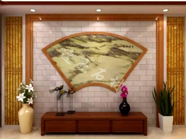 新中式背景墙7