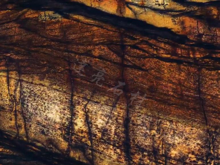 楼梯背景墙-香格里拉棕